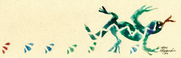 Hear The Lizard Print by Annie Alexander