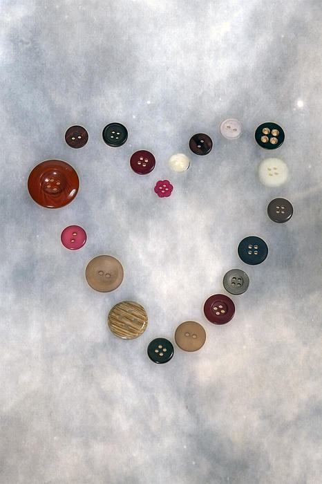 Heart Of Buttons Print by Joana Kruse