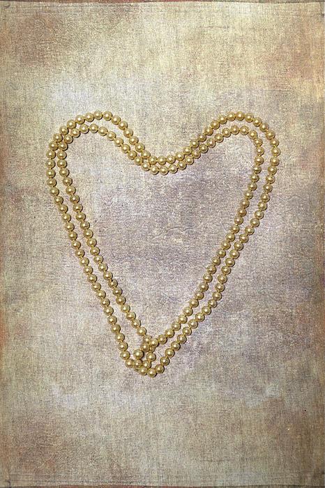 Heart Of Pearls Print by Joana Kruse