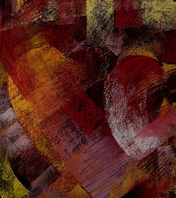 Hearts Print by David Patterson