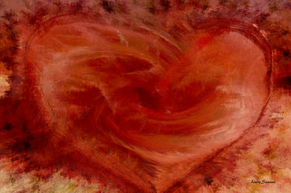 Hearts Of Fire Print by Linda Sannuti