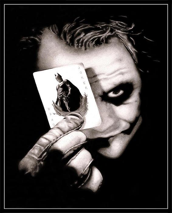 Heath Ledger As The Joker Print by Kalie Hoodhood