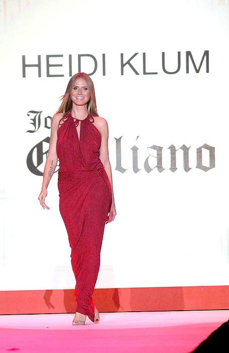Heidi Klum In Attendance For The Heart Print by Everett