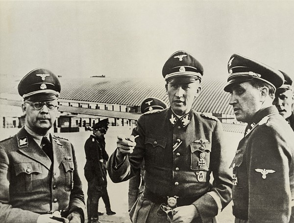 Heindrich Himmler Leftand Heydrich Print by Everett