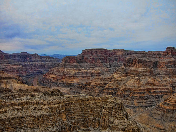 Helicopter View Of The Grand Canyon Print by Douglas Barnard
