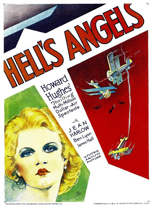 Hells Angels, Jean Harlow On Window Print by Everett