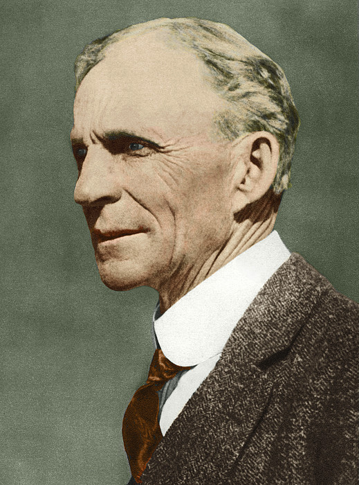 Henry Ford, Us Car Manufacturer Print by Sheila Terry