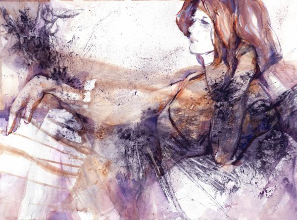 Her Elegance Print by Joan  Jones