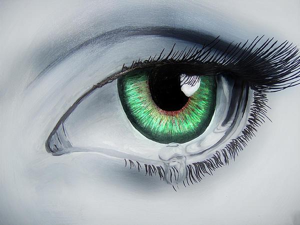 Her Eye Print by Michael McKenzie