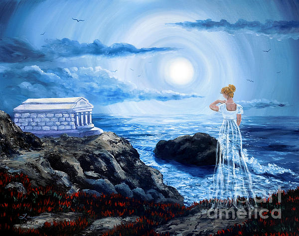 Her Tomb By The Sounding Sea Print by Laura Iverson