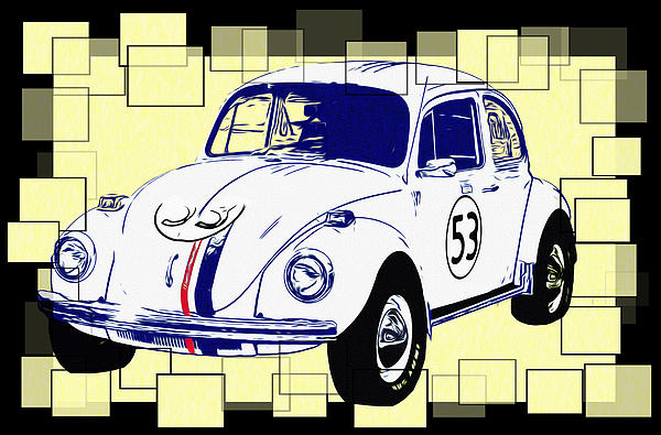 Herbie The Love Bug Print by Bill Cannon