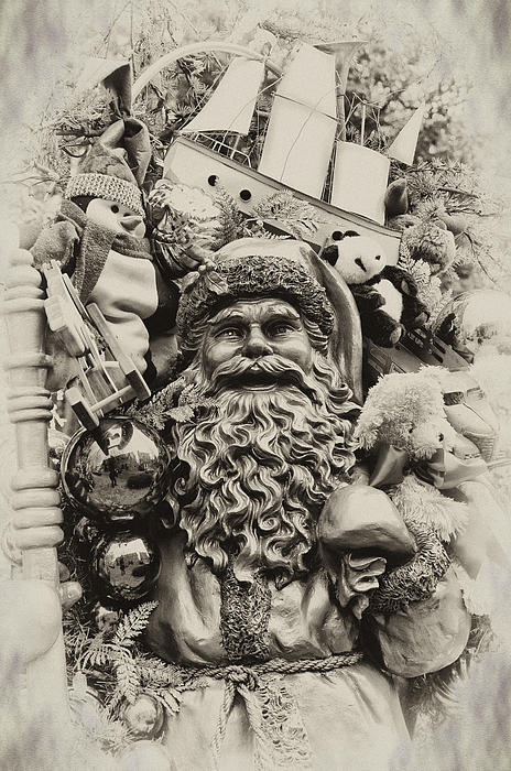 Here Comes Santa Claus Print by Bill Cannon