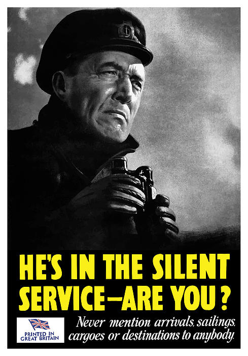 He's In The Silent Service Print by War Is Hell Store