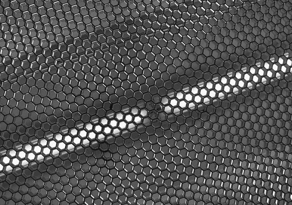 Hexagon Lights Print by Anna Villarreal Garbis