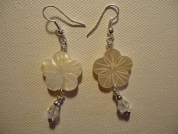 Hibiscus Hawaii Flower Earrings Print by Jenna Green