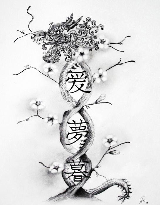 Hidden Dragon Tattoo Drawing Hidden Dragon Tattoo Fine Art Print Andrea