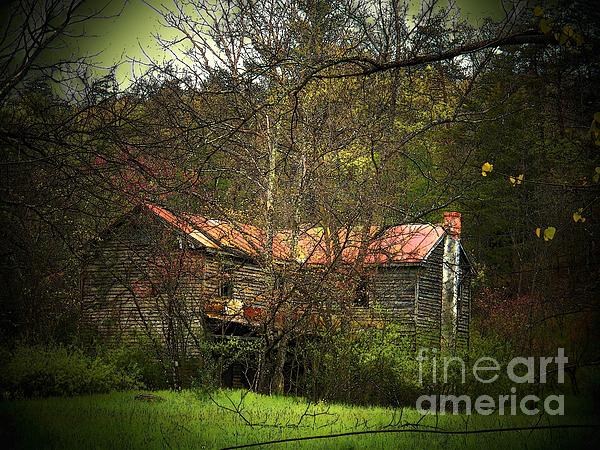 Hidden House In Spring Print by Joyce Kimble Smith
