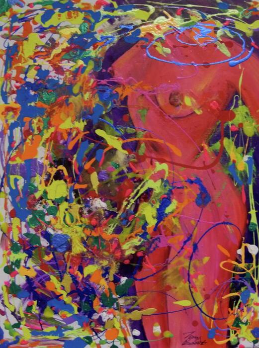 Hidden Nude Painting - Hidden Nude Fine Art Print - Tracey Bautista
