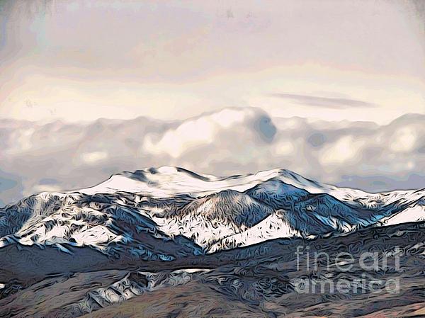 High Sierra Mountains Print by Phyllis Kaltenbach