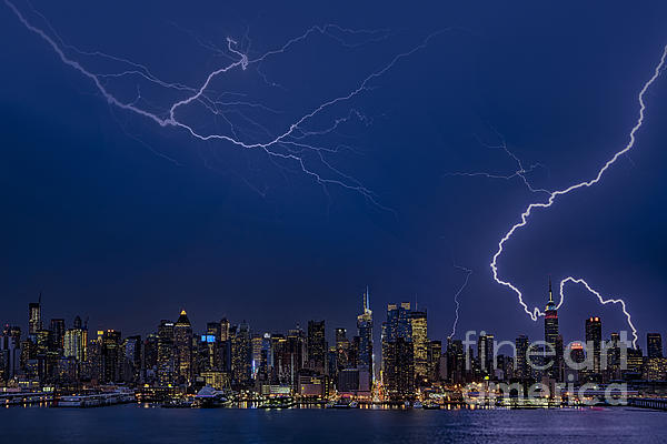 Susan Candelario - High Voltage in the  New York City Skyline