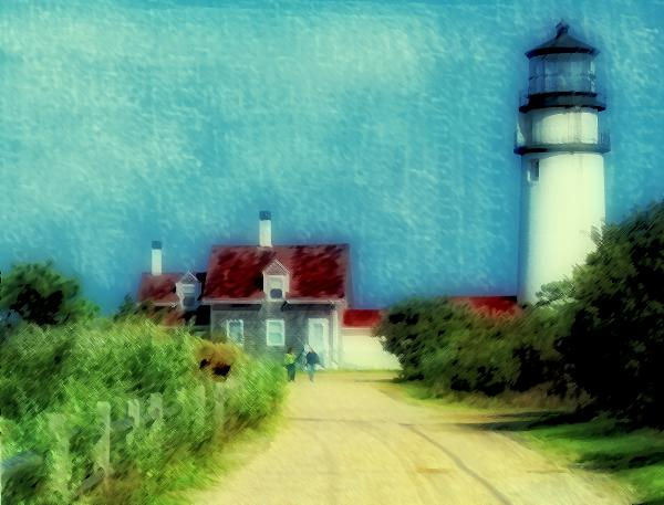 Highland Lighthouse II Print by Gina Cormier