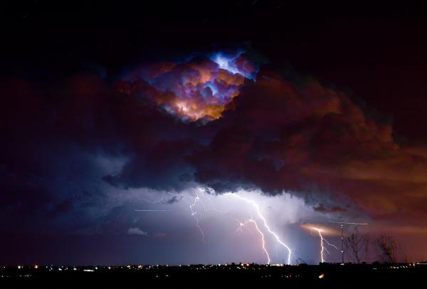 Highway 52 Thunderhead Lightning Cell Print by James BO  Insogna