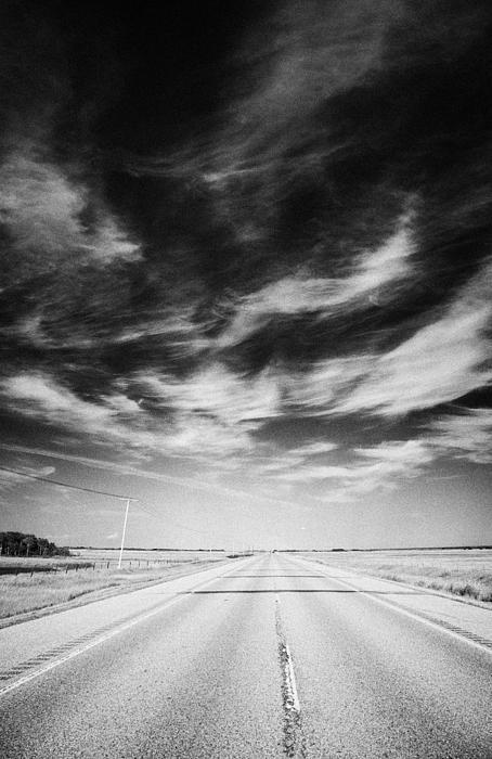 Highway Through Land Of The Living Skies Saskatchewan Canada Print by Joe Fox