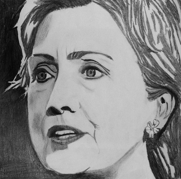 Hillary Clinton Print by Kenneth Regan