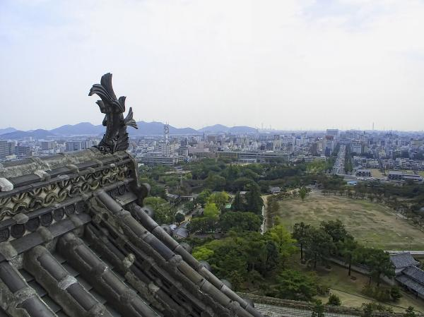 Himeji City From Shogun's Castle Print by Daniel Hagerman