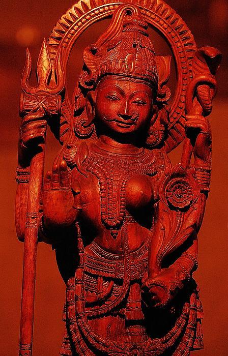 Hindu Goddess Print by Abhilash G Nath