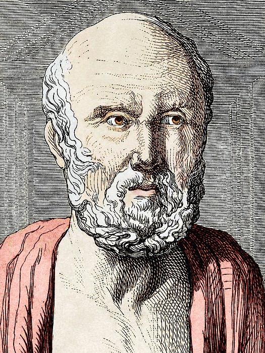 Hippocrates, Ancient Greek Physician Print by Sheila Terry