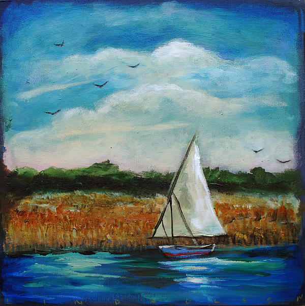 Hird Island Sailboat Painting  - Hird Island Sailboat Fine Art Print