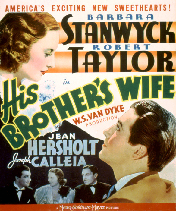 His Brothers Wife, Barbara Stanwyck Print by Everett