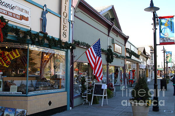 Historic Niles District In California Near Fremont . Main Street . Niles Boulevard . 7d10701 Print by Wingsdomain Art and Photography