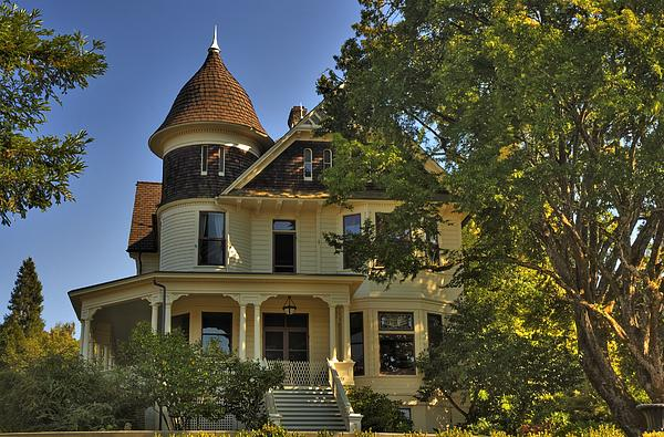 Historic Victorian House Print by Tyra  OBryant