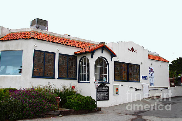 Historical Moss Beach Distillery At Half Moon Bay . 7d8168 Print by Wingsdomain Art and Photography