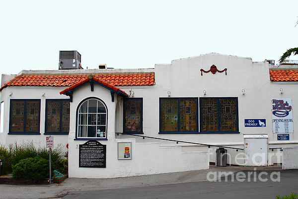 Historical Moss Beach Distillery At Half Moon Bay . 7d8172 Print by Wingsdomain Art and Photography
