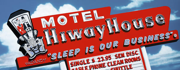 Hiway House Motel Print by Anthony Ross