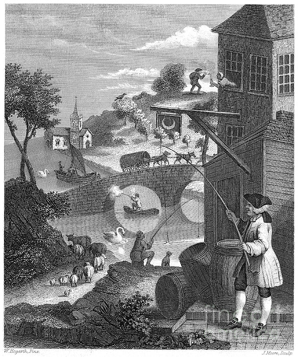 Hogarth: False Perspective Print by Granger