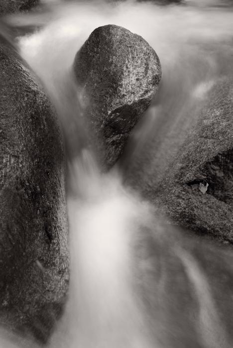 Hogback Creek And Granite Inyo Natl Forest Bw Print by Steve Gadomski
