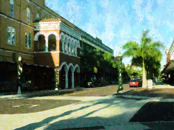 Holiday Ft. Myers Mixed Media  - Holiday Ft. Myers Fine Art Print