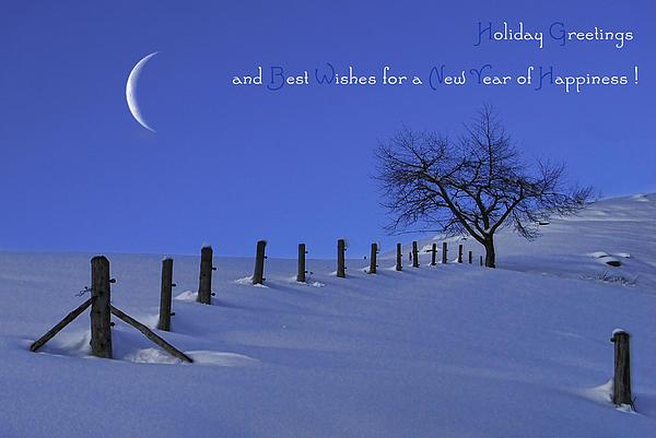 Holiday Greetings Print by Sabine Jacobs