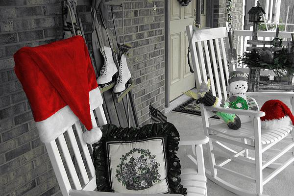 Holiday Porch Print by JAMART Photography