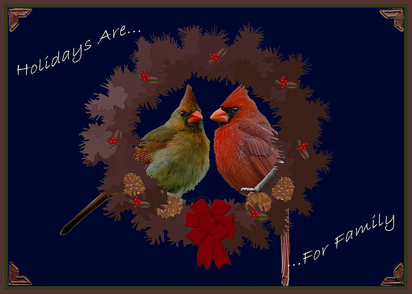 Holidays Are For Family Print by DigiArt Diaries by Vicky B Fuller