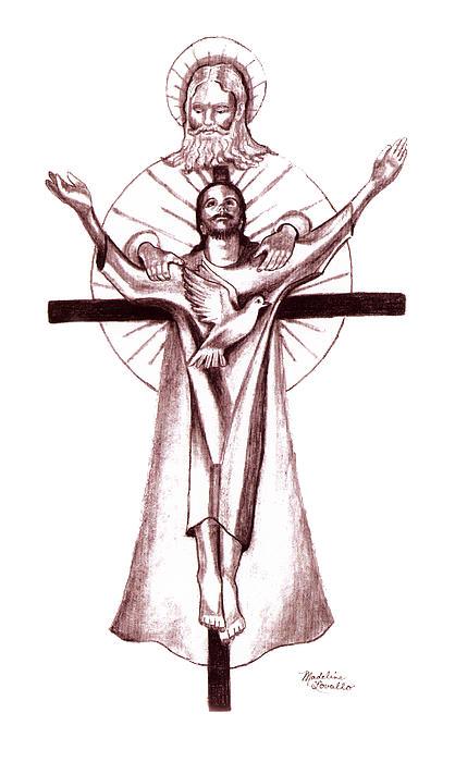 Holy Trinity Print by Madeline  Lovallo