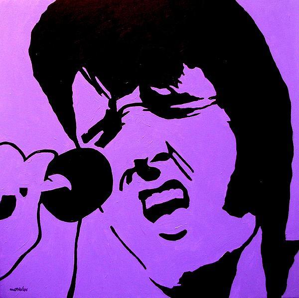 Homage To Elvis Print by John  Nolan
