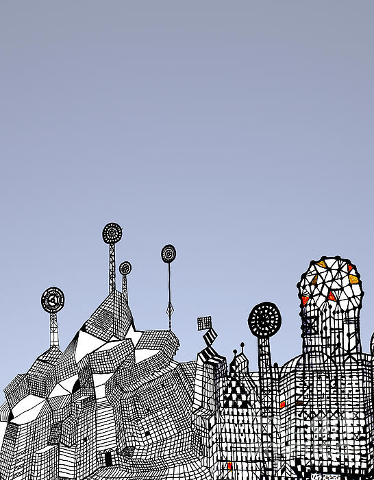 Homage To Gaudi Print by Andy  Mercer