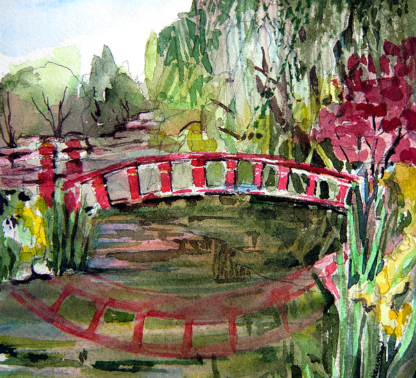 Homage To Monet Print by Mindy Newman