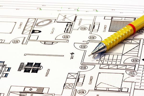 Home Plans Print by Soultana Koleska