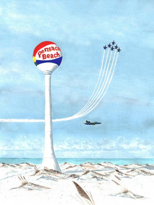 Homecoming - Blue Angels Flight Demonstration Team Print by Richard Roselli